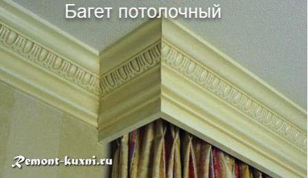 Как правильно выбрать потолочный плинтус для кухни