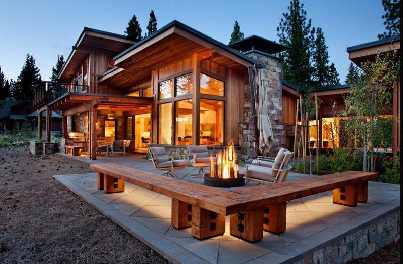 Стильные деревянные дома фото