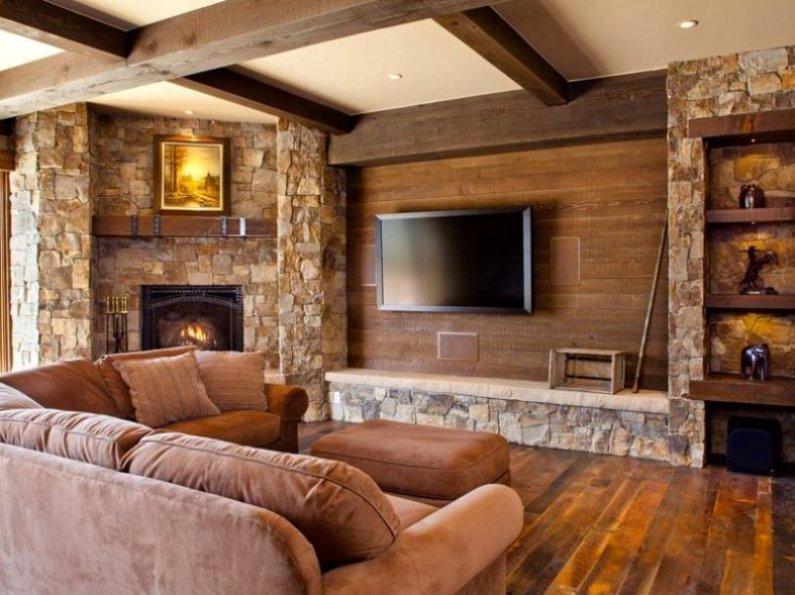 35 идей интерьера загородных деревянных домов внутри на фото