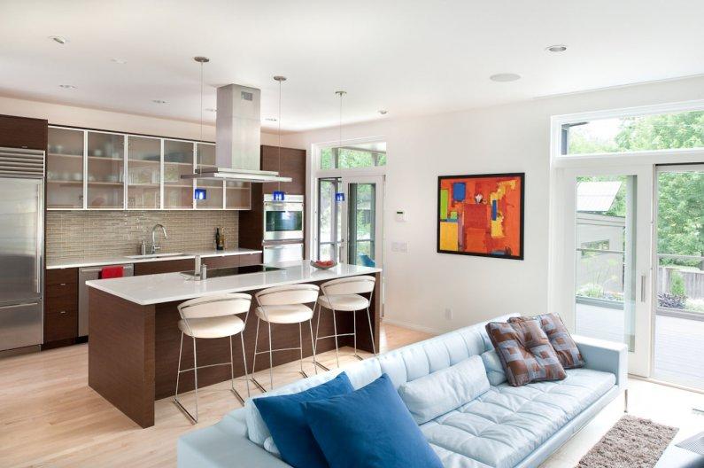 дизайн кухни-гостиной в 2016 году