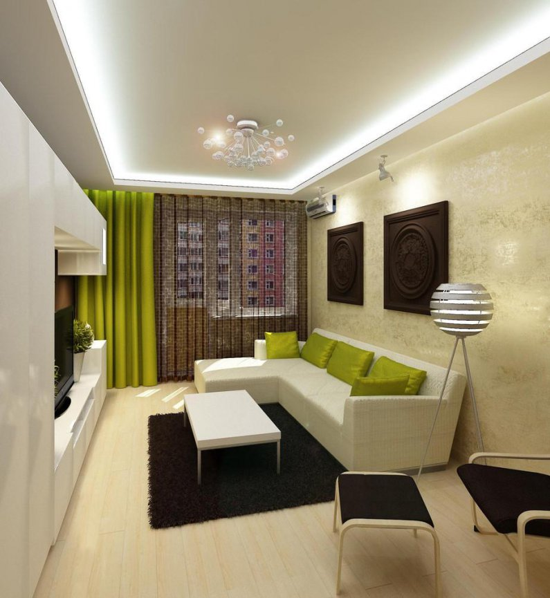 Фото интерьер гостиной 18 кв м