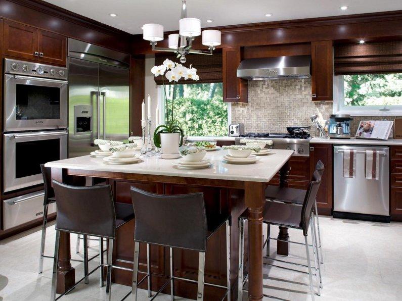 Дизайн кухни - современные фото идеи 2016 года