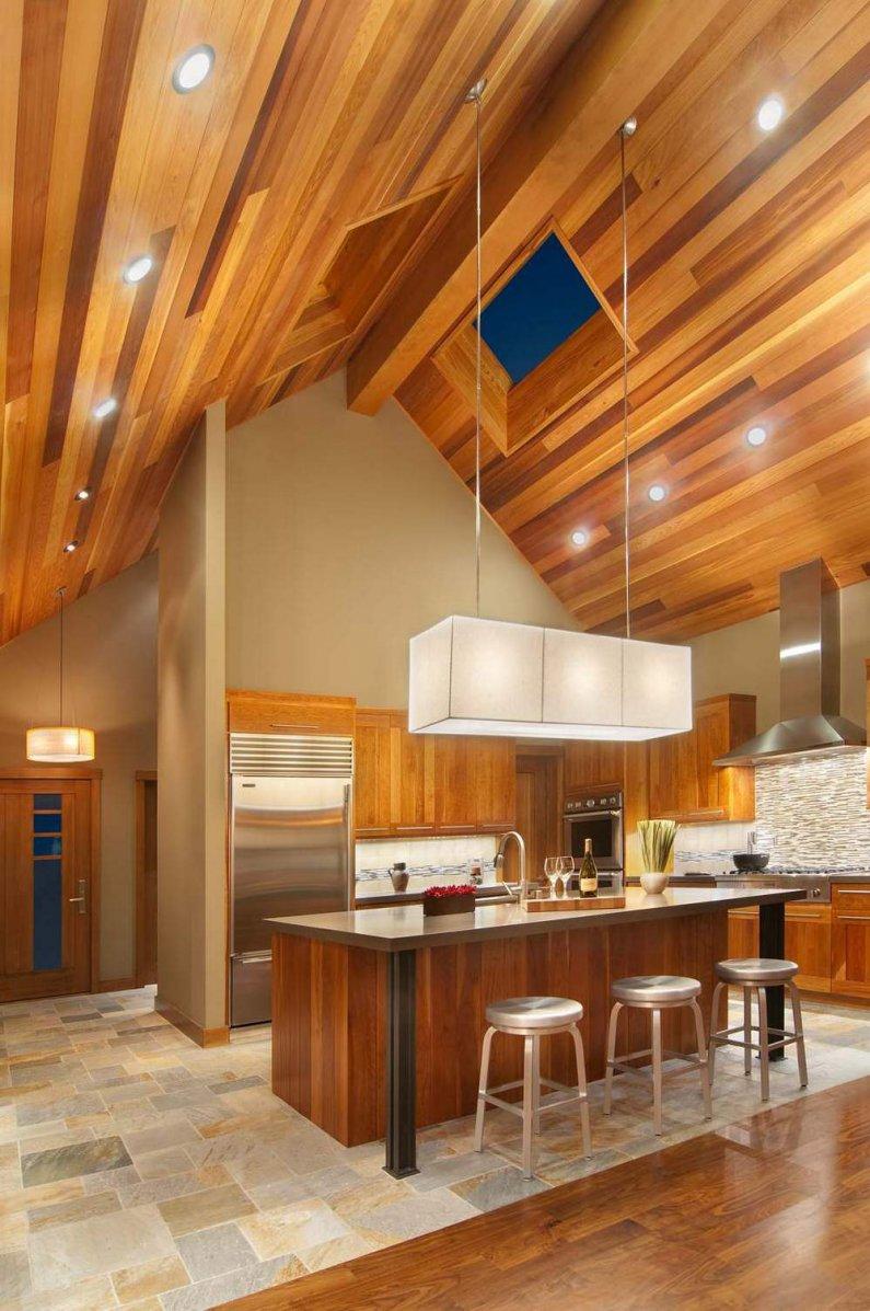 использование натурального дерева на кухне