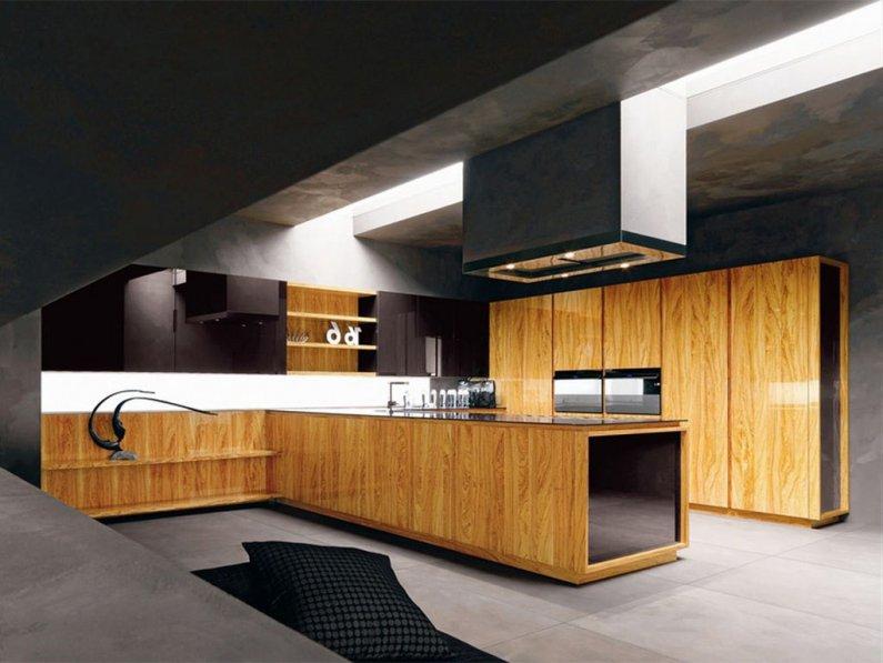 Вместительная мебель на кухне - дизайн 2016 года