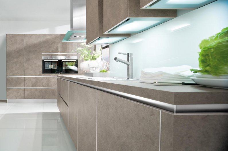 Фасады кухонной мебели без ручек