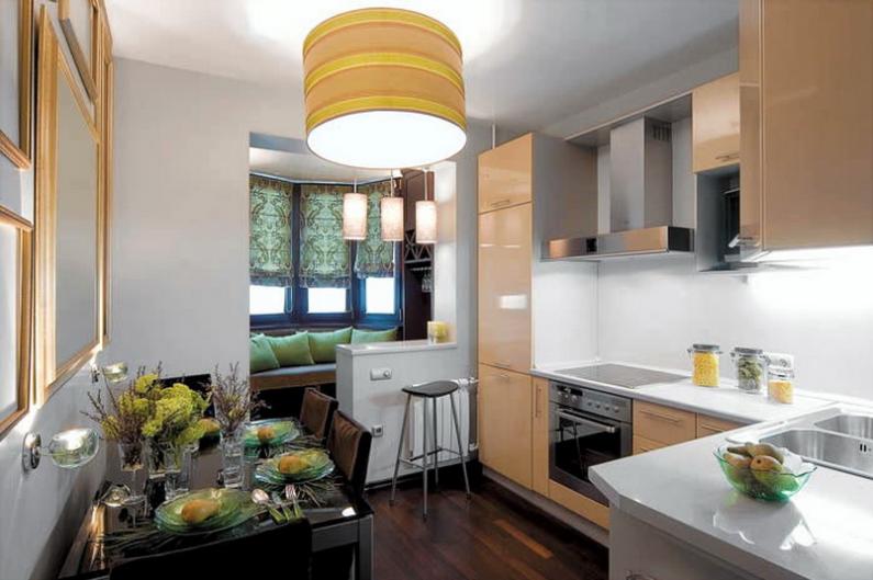 Фото - кухня совмещенная с балконом