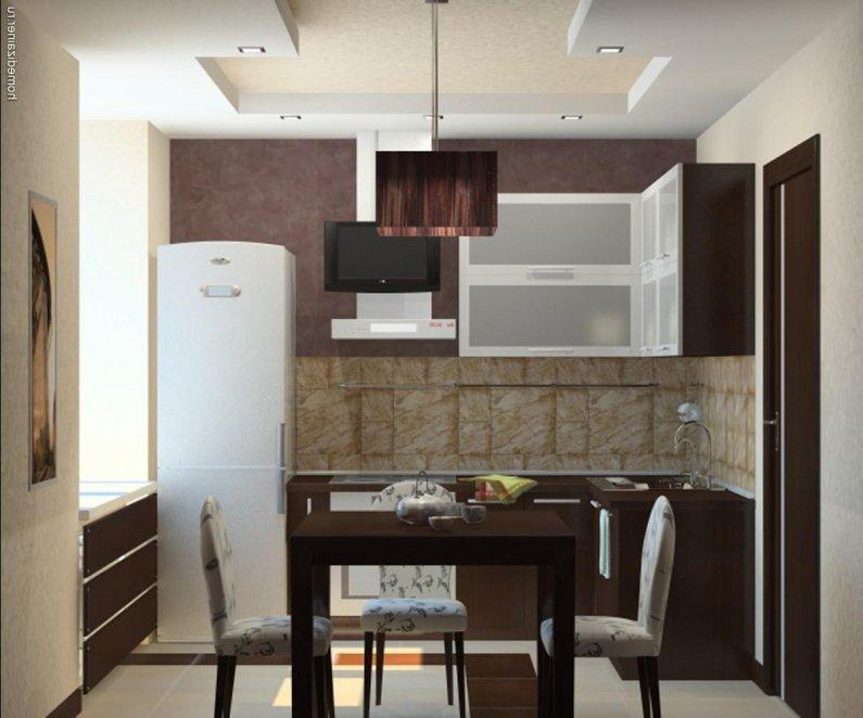 идеи сезона 2016 в дизайне маленькой кухни
