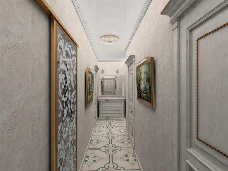 Обои для прихожей и коридора фото идеи для квартиры маленькие