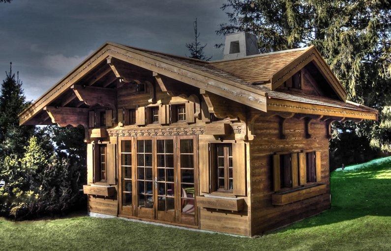 Фото деревянного дома шале 26