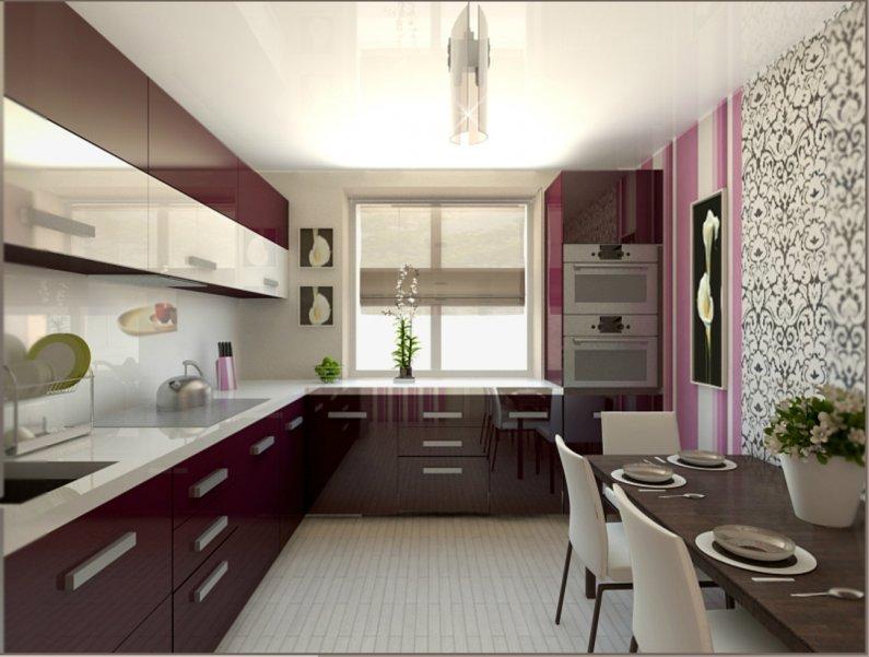Дизайн кухни 8 кв.м квадратные